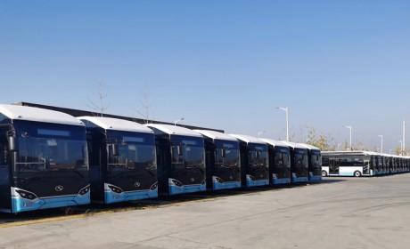 氢动京山·绿水青山,金龙客车30辆氢燃料公交顺利交付