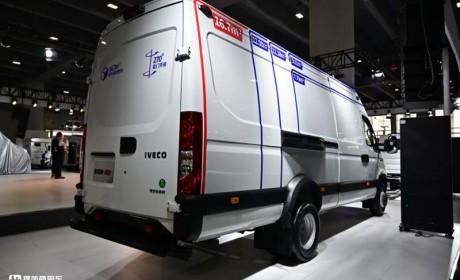 货箱容积16.7方,8AT自动挡国六,广州车展上市的2021款依维柯欧胜实拍
