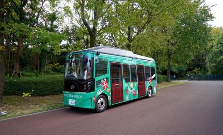 日本长崎迎来首批纯电动大巴  比亚迪大巴于豪斯登堡正式运行