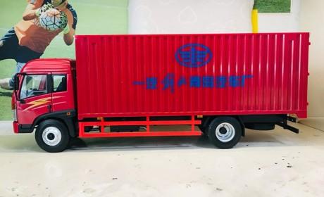 解放三赛中卡您见过吗?赛龙中卡载货车模型评测,造型经典值得收藏