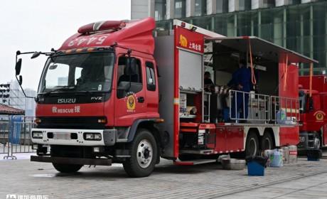 五十铃FVZ底盘,上装是个大厨房,这台消防保障车配置太硬核