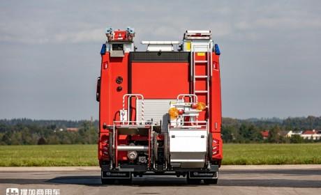 新一代曼恩TG底盘消防车来了,卢森宝亚打造,看起来果然帅多了