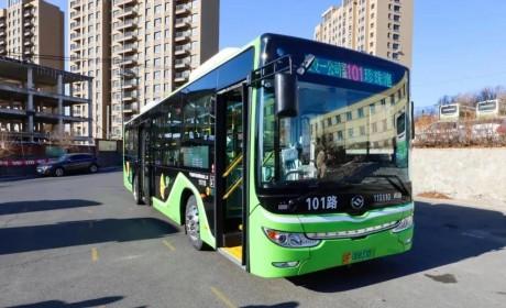 提升城市品位形象 ,黄海新能源公交上线丹东101路
