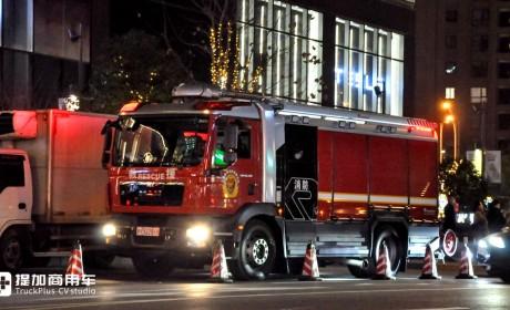 一场消防演练纪录,47台消防车,几乎让我们见识了城市消防车全阵容