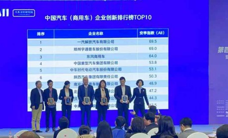 四夺桂冠!一汽解放再登中国商用车创新排行榜双第一