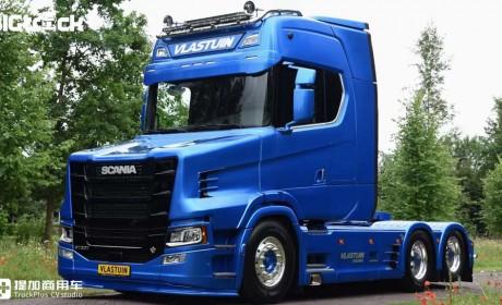 新一代斯堪尼亚还有长头卡车?带您见识一辆超级炫酷的斯堪尼亚S650T