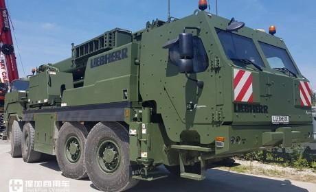 """利勃海尔向公众展出G-BKF装甲救援起重机,再带您好好看看这款战地""""机甲怪兽"""""""