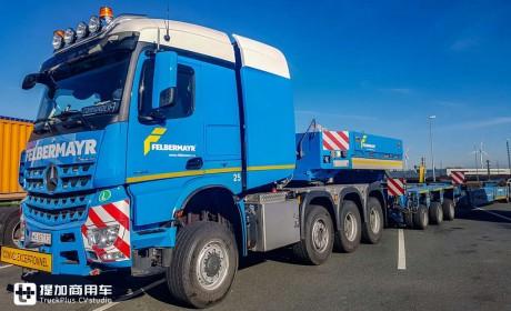 大件运输卡车一般都什么配置?这辆4轴625马力的奔驰Arocs告诉您