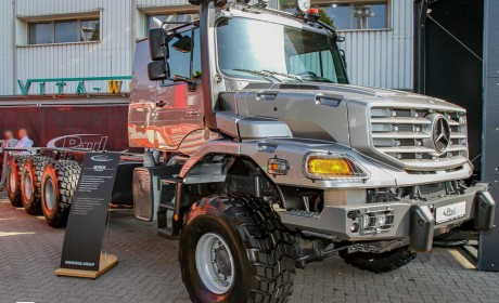 8X8驱动,中东土豪定制的奔驰Zetros长头卡车,配置真独特