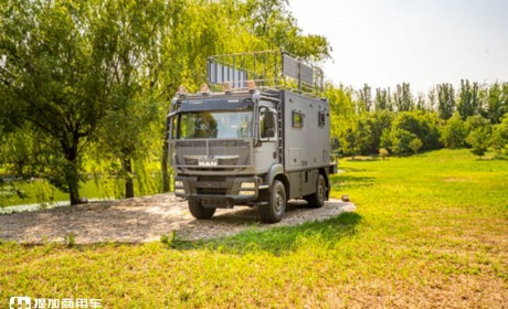 C型越野房车市场再添猛将,德国曼TGM 4驱卡车底盘打造,这台洲际越野房车配置真强